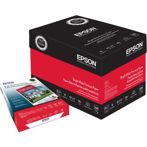 """Epson Bright White Premium Paper (8.5 x 11"""", 5000 Sheets)"""