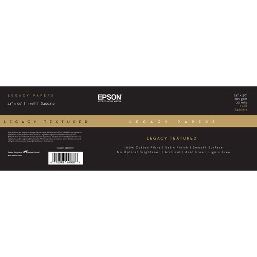 """Epson Legacy Textured Paper (24"""" x 50' Roll)"""