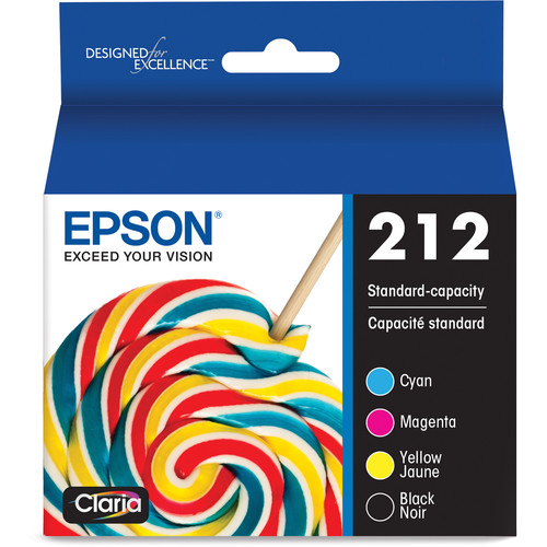 Epson Claria 212 Standard-Capacity Color and Black Ink Cartridge Multi-Pack (CMYK)
