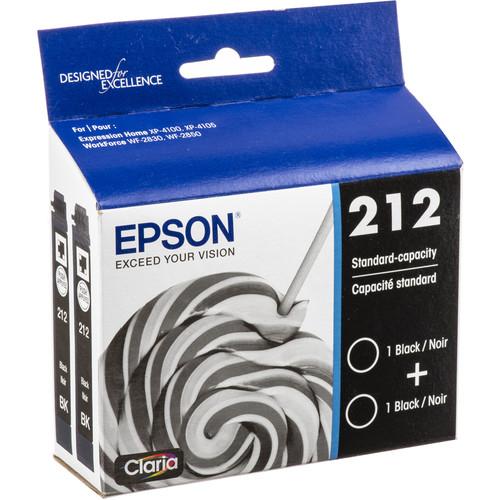Epson Claria 212 Standard-Capacity Black Ink Cartridge (2-Pack)
