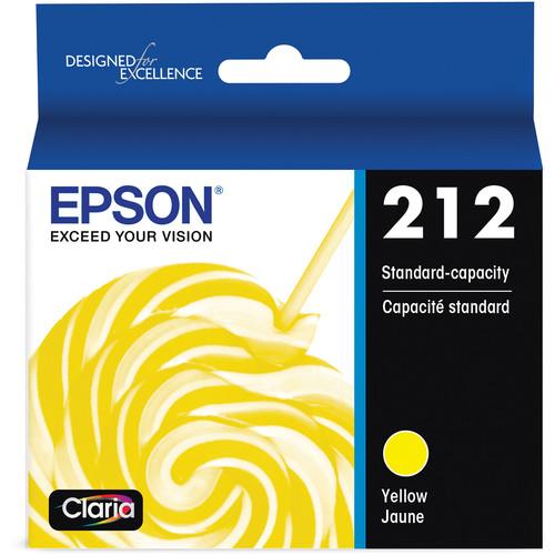Epson T212 Standard Capacity Yellow Ink Cartridge with Sensormatic
