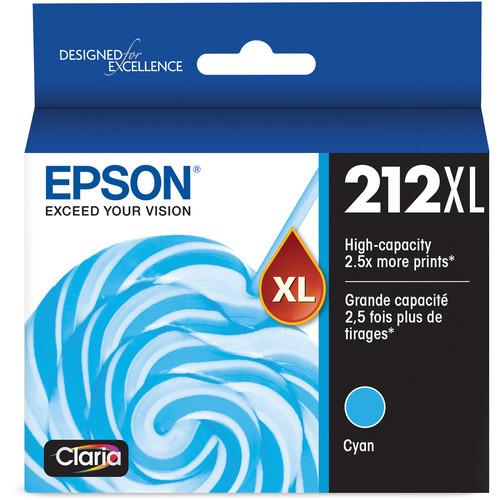 Epson T212 High Capacity Cyan Ink Cartridge with Sensormatic