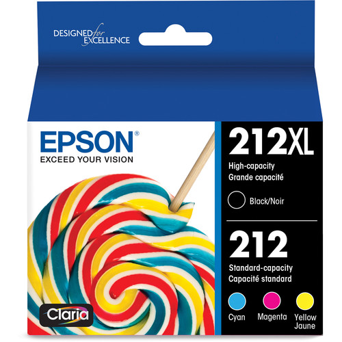Epson T212 High Capacity Black And Color Combo Pack Ink Cartridge with Sensormatic