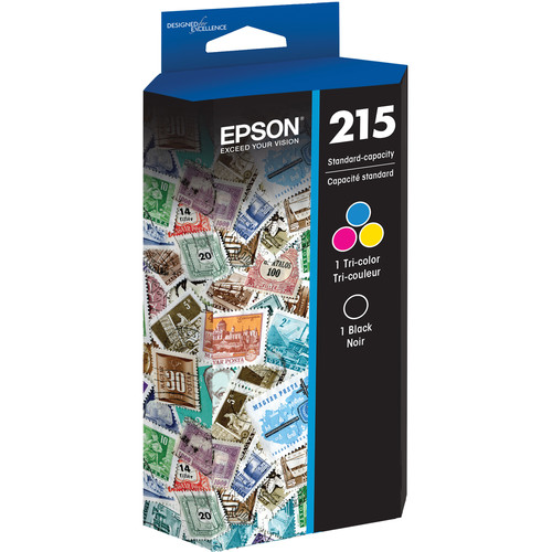 Epson T215 DuraBrite Ultra Standard Capacity Black and Color Ink Cartridge Combo Pack
