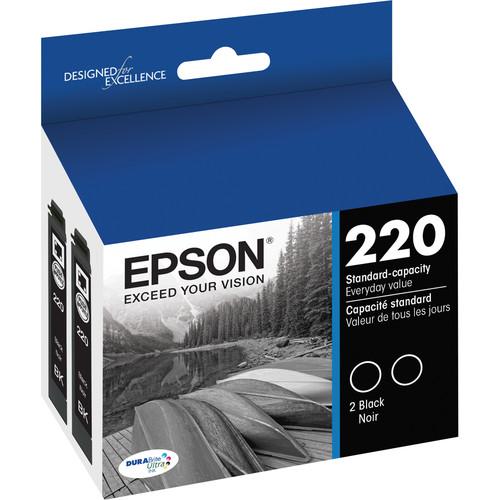 Epson T220 DURABrite Ultra Black Ink Cartridge Dual Pack