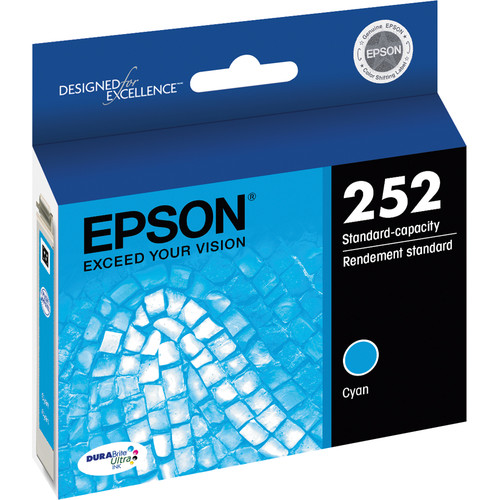 Epson T252 DURABrite Ultra Standard-Capacity Cyan Ink Cartridge