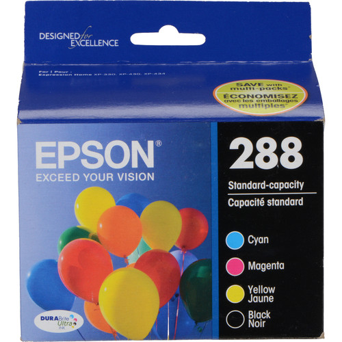 Epson T288120-BCS DURABrite Ultra Black & Color Combo Ink Cartridge Set