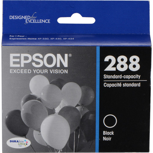 Epson T288120 DURABrite Ultra Black Ink Cartridge with Sensormatic