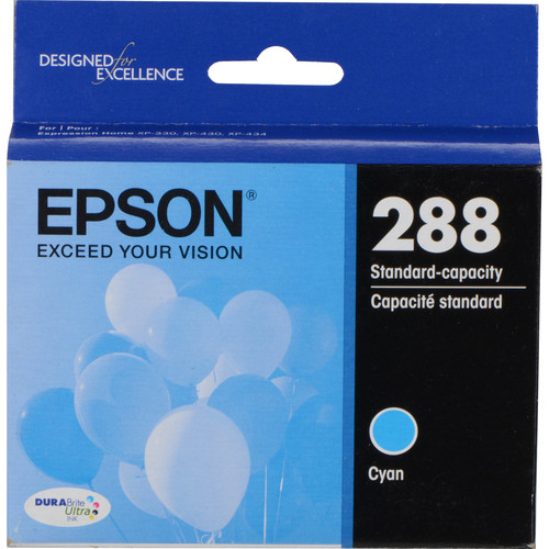 Epson T288220 DURABrite Ultra Cyan Ink Cartridge with Sensormatic