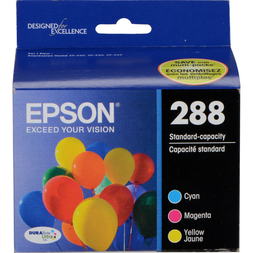Epson T288520-S DURABrite Ultra Color Combo Ink Cartridge Set with Sensormatic