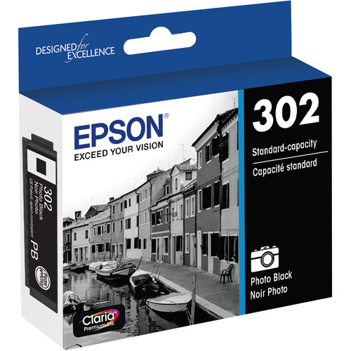 Epson Claria Premium 302 Standard-Capacity Ink Cartridge (Photo Black)