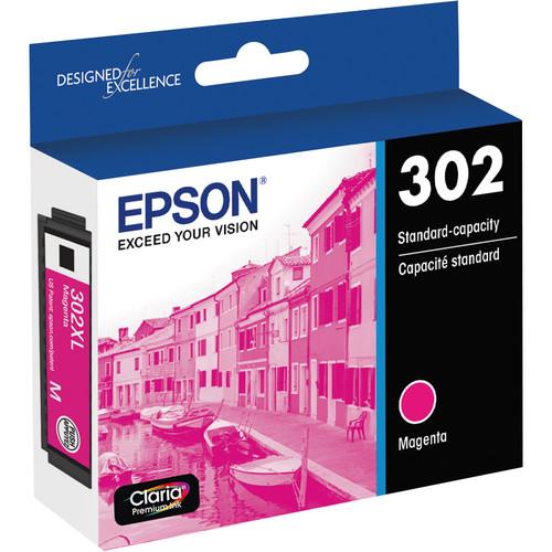 Epson Claria Premium 302 Standard-Capacity Ink Cartridge (Magenta)