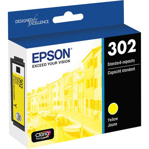 Epson Claria Premium 302 Standard-Capacity Ink Cartridge (Yellow)