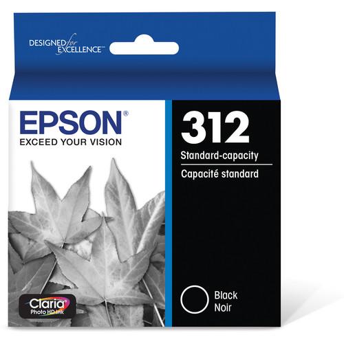 Epson T312 Black Claria Photo HD Ink Cartridge with Sensormatic