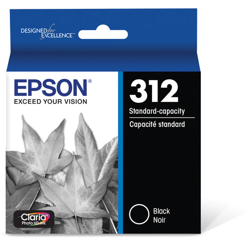 Epson T312 Black Claria Photo HD Ink Cartridge with Sensormatic