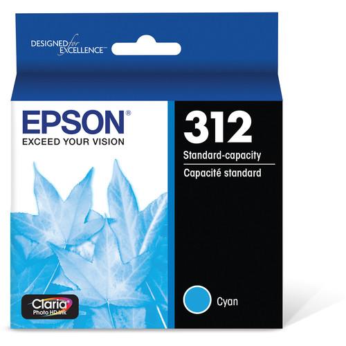 Epson T312 Cyan Claria Photo HD Ink Cartridge with Sensormatic