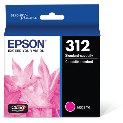 Epson T312 Magenta Claria Photo HD Ink Cartridge with Sensormatic