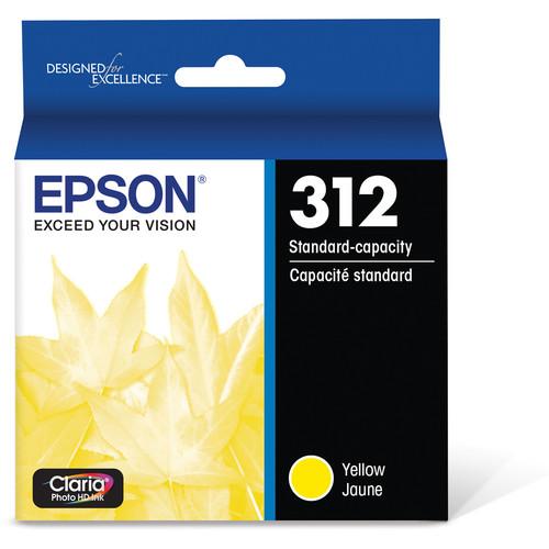 Epson T312 Yellow Claria Photo HD Ink Cartridge with Sensormatic