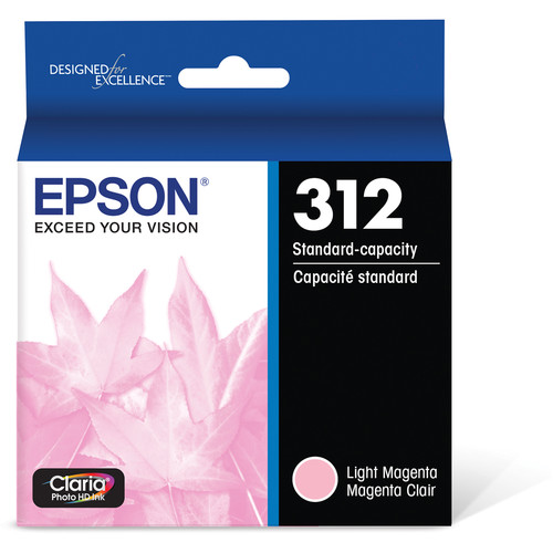 Epson T312 Light Magenta Claria Photo HD Ink Cartridge with Sensormatic