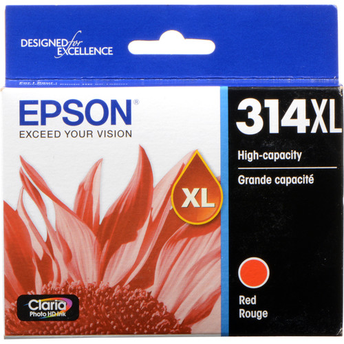 Epson T314XL Red Claria Photo HD Ink Cartridge with Sensormatic