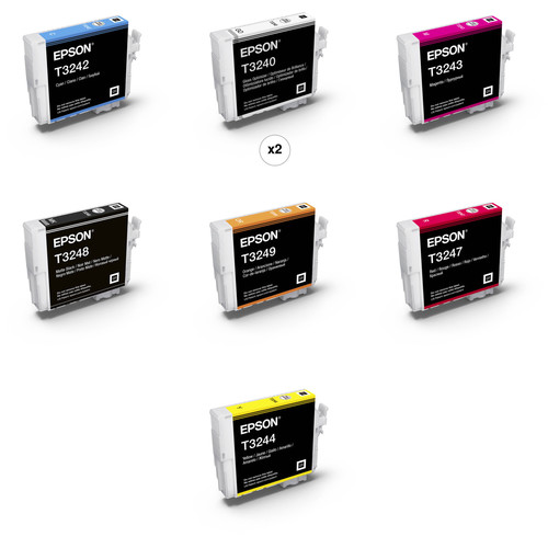 Epson T324 UltraChrome HG2 Ink Cartridge Kit with Matte Black