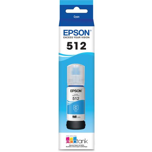 Epson T512 Cyan EcoTank Ink Bottle (70mL)