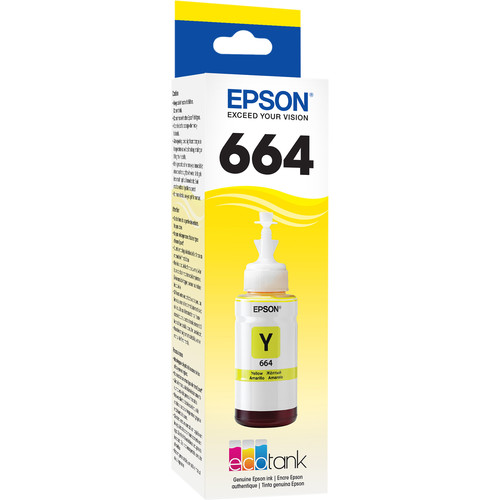 Epson T664 Yellow Ink Bottle (70mL)
