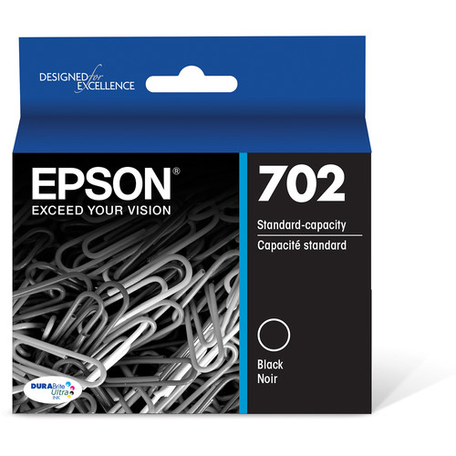 Epson 702 Black DURABrite Ultra Standard-Capacity Ink Cartridge Dual Pack