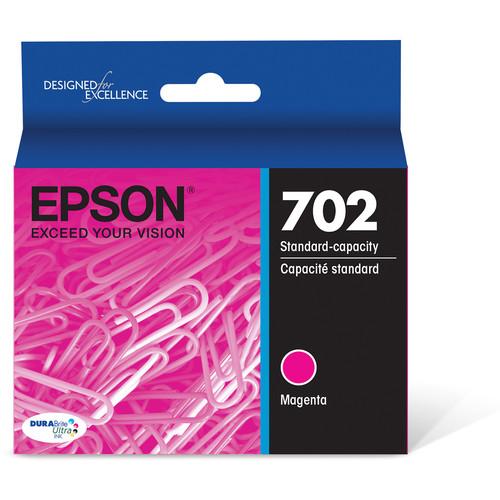 Epson 702 Magenta DURABrite Ultra Standard-Capacity Ink Cartridge with Sensormatic