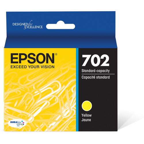 Epson 702 Yellow DURABrite Ultra Standard-Capacity Ink Cartridge