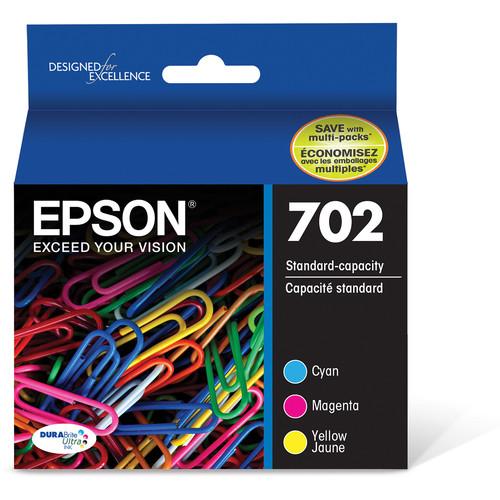 Epson 702 DURABrite Ultra Standard-Capacity Ink Cartridge Color Multi Pack with Sensormatic