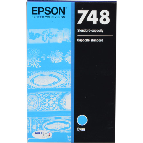 Epson 748 Standard-Capacity Cyan Ink Cartridge