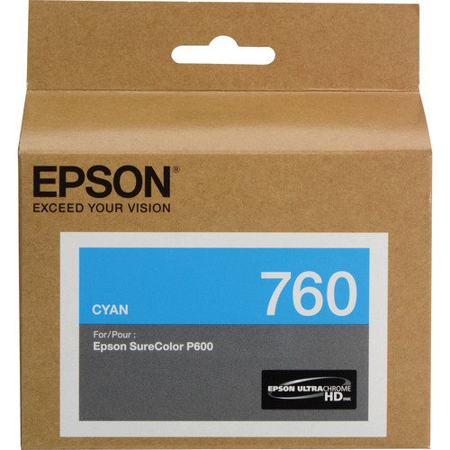 Epson T760 Cyan Ultrachrome HD Ink Cartridge