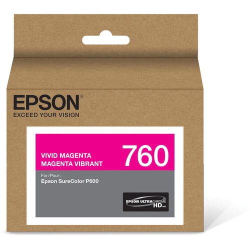 Epson T760 Vivid Magenta Ultrachrome HD Ink Cartridge