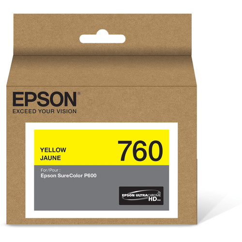 Epson T760 Yellow Ultrachrome HD Ink Cartridge
