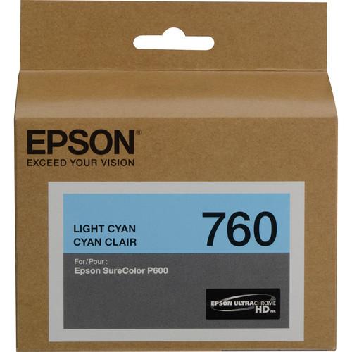 Epson T760 Light Cyan Ultrachrome HD Ink Cartridge
