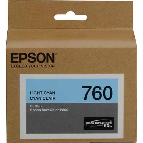Epson T760 Light Cyan Ultrachrome HD Ink Cartridge