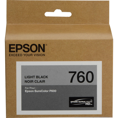 Epson T760 Light Black Ultrachrome HD Ink Cartridge