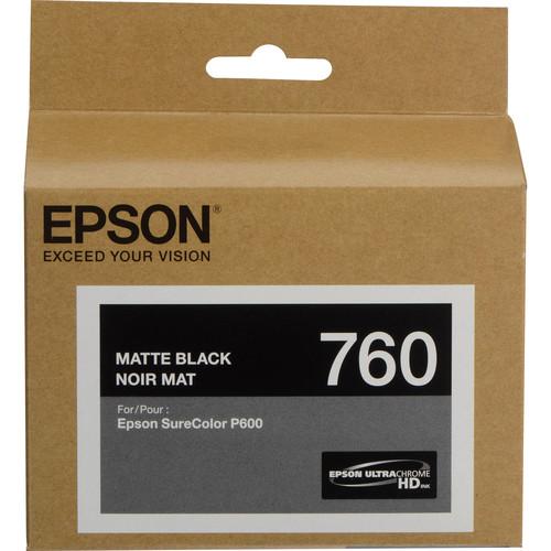 Epson T760 Matte Black Ultrachrome HD Ink Cartridge
