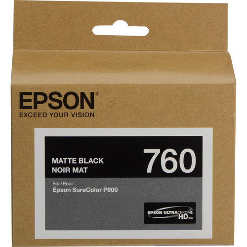 Epson T760 Matte Black Ultrachrome HD Ink Cartridge