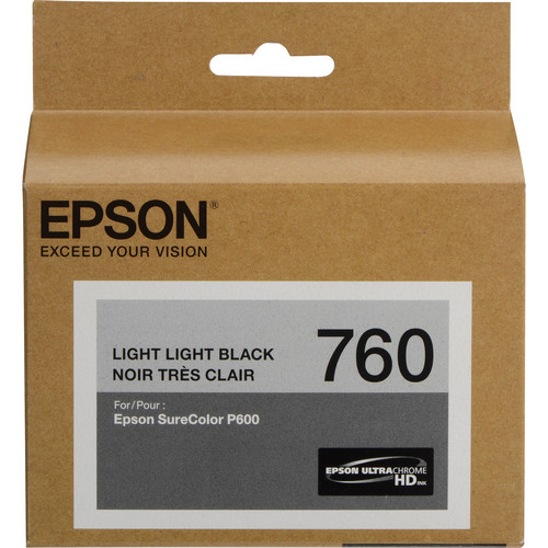 Epson T760 Light Light Black Ultrachrome HD Ink Cartridge