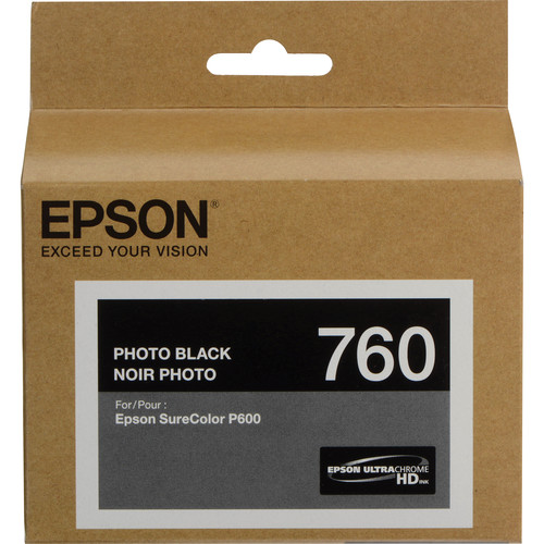 Epson T760 Ultrachrome HD Eight Ink Cartridge Kit with Photo Black
