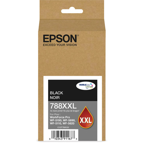 Epson T788XXL Extra High-Capacity DURABrite Ultra Black Ink Cartridge