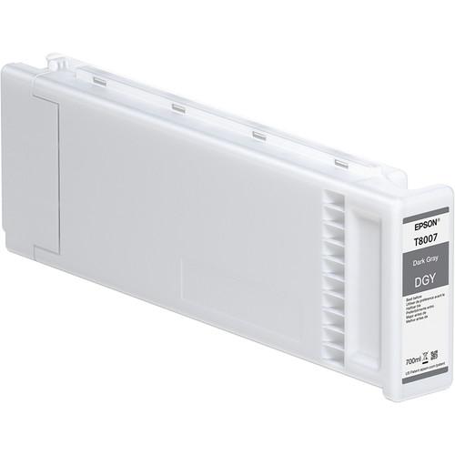 Epson T800700 UltraChrome PRO Dark Gray Ink Cartridge (700mL)