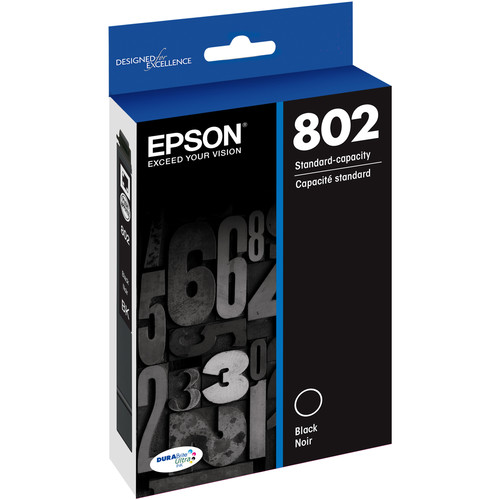 Epson 802 Black DURABrite Ultra Standard-Capacity Ink Cartridge