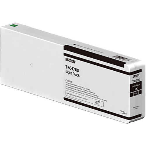 Epson T804700 UltraChrome HD Light Black Ink Cartridge (700ml)