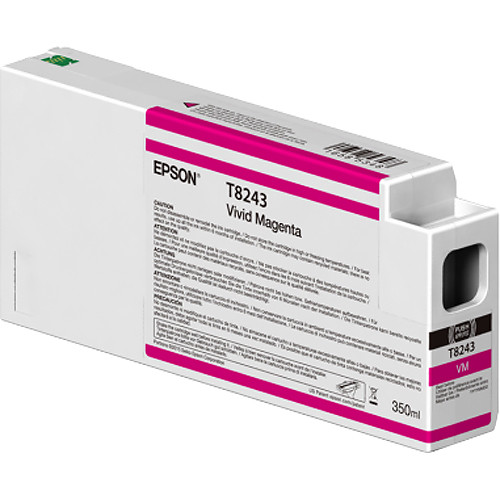 Epson T824300 UltraChrome HD Vivid Magenta Ink Cartridge (350ml)