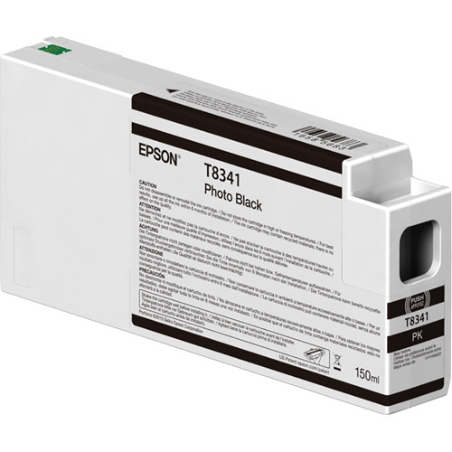 Epson T834100 UltraChrome HD Photo Black Ink Cartridge (150ml)