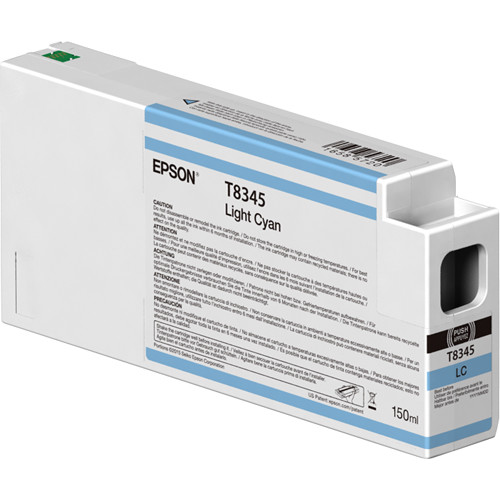Epson T834500 UltraChrome HD Light Cyan Ink Cartridge (150ml)