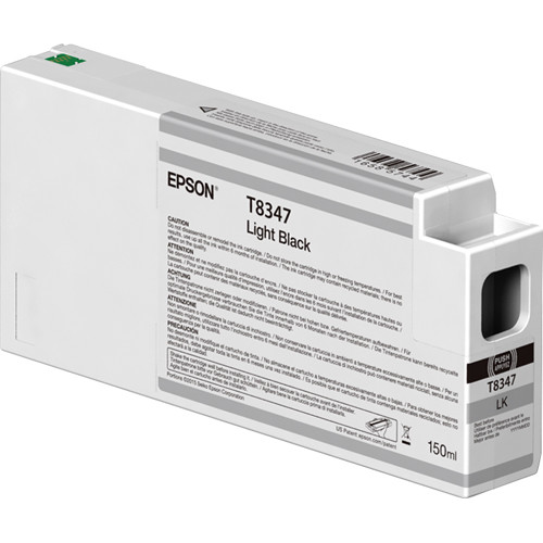 Epson T834700 UltraChrome HD Light Black Ink Cartridge (150ml)